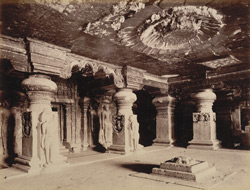 Interior of Inder Sabha cave [Ellora] 29